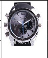 EMS DHL Free Shipping Mini Hidden IR Night Vision Full HD 1080P Camera Watch with waterproof with 8GB with 10pcs/lot