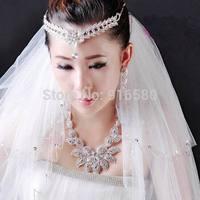 Wedding Bridal Crystal Headband Tiara Headband Forehead Tiara Wedding Tiara Headband