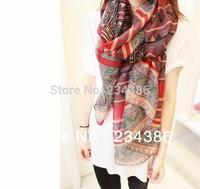 Min order 2pcs 51H43 Fashion Women Long Voile Tribal Aztec Scarf Shawl Muslim Hijab,Free Shipping