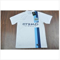 Thai version 13-14 season Manchester city football clothes The second away to Manchester city Champions league white shirt