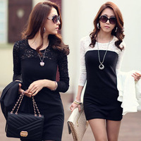 Better Quality women ladies sexy cotton lace dress, maxi casual dress S M L XL for spring and autumn promotion