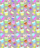 Cupcake cartoon pattern water ransfer printing film beautyful