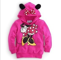 Retail 2013 baby clothing children Boy Girls sweater Hoodies Mickey Minnie Sweatshirts Mouse Cartoon t-shirt Kids,Free shipping