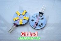 6 x G4 7W power led bulb,  5630SMD*15SMD white and warm white spotlight, AC/DC12V Car led reading lights