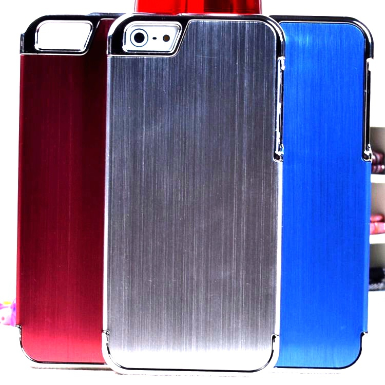 Aluminum 2pcs/LOT of lined metal case for iPhone 5 5g Luxury cover with viable mixcolor order in stock+FREE SHIPPING(China (Mainland))