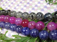 3strands AAA 8mm natural agate round wide round loose beads 15'' GE790