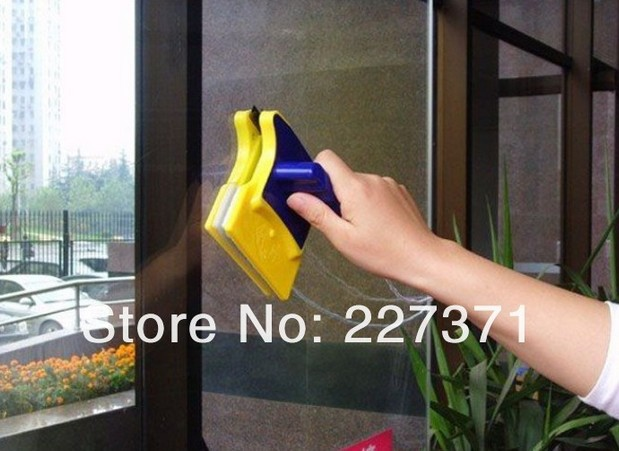 In stock Magnetic Window Cleaner Double Side Glass Wiper Cleaner Surface Useful Brush New(China (Mainland))