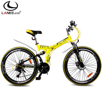 Blue cleis bicycle double disc 21 double shock absorption folding mountain bike