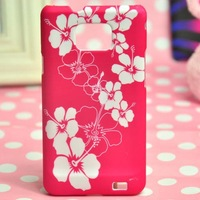 34 Patterns Plum blossom Style Colorful Flower and Butterfly Design Plastic Case For Samsung Galaxy S2 S II i9100 Free shippnig