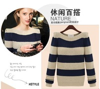 Free Shipping Women's Sweater 2013 autumn and winter female long-sleeve sweater o-neck sweater pullover sweater