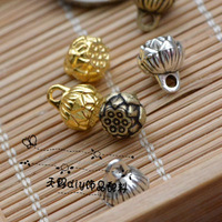 Diy accessories material hx22 alloy accessories 8mm shower charm tibetan silver lotus beads
