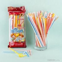 Box white disposable plastic color of art straw style straw