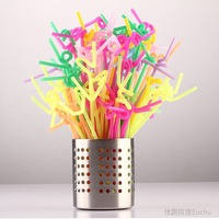 Box suckpipe disposable plastic art straw diy beerage straw 71034