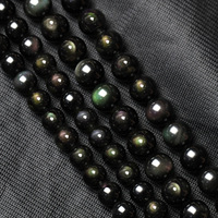 Crystal diy handmade accessories natural obsidian beads beads semi-finished products
