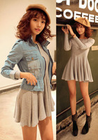 Free Shipping new 2014 autumn and winter casual dress women one piece elegant