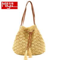 Bag gentlewomen fashion all-match shoulder bag straw braid hook needle bags 526