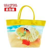 Bag sweet gentlewomen print canvas bag shell girl print pattern winter women's handbag bags my618
