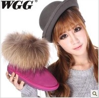 Wgg women snow boots winter boots with fur cow split 10 colors Free Shipping