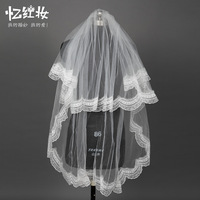 Bridal veil top lace soft gauze material wedding formal dress accessories