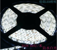3528led 60 lamp waterproof 12v lights with flexible high bright smd car jewelry showcase led strip