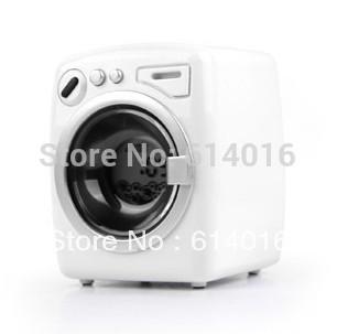 new 2015 novelty home decor drum egg washing machine alarm clock vibration music bell alarm clock led desktop digital clock(China (Mainland))