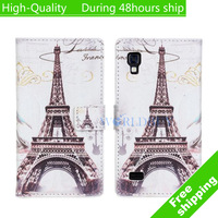High Quality British style Leather Wallet Flip Cover Case for LG Optimus L9 P760 Free Shipping UPS DHL HKPAM CPAM GT-10