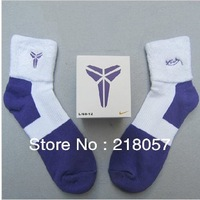 Men's sports socks thick warm cotton boxed basketball socks ankle thick towel