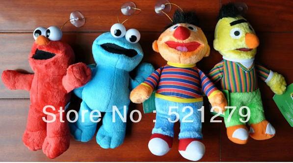 "4pcs/Lot High Quality Soft Plush Sesame Street Plush Doll 8"" New Retail & Dropshipping(China (Mainland))"