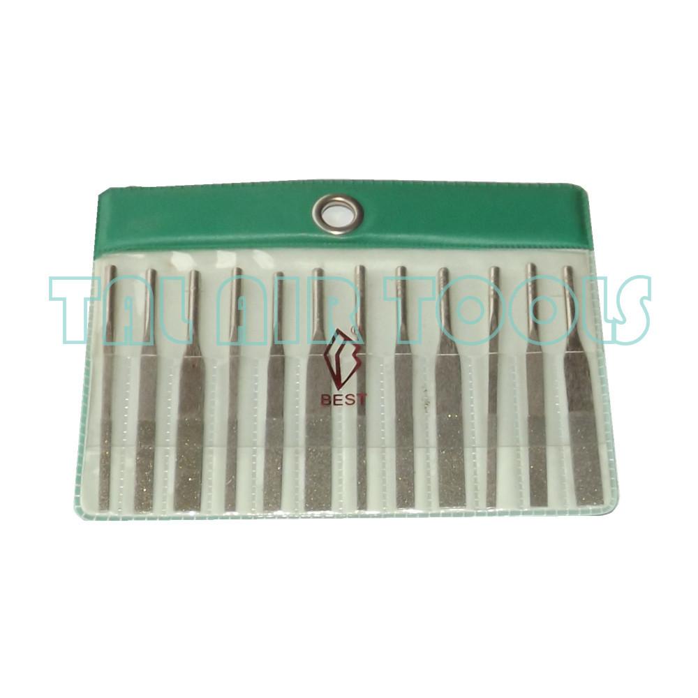 TAIWAN BEST12x Needle Files Set Jewelers Diamond Wood Carving Craft
