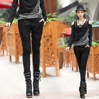 Fashion patchwork 2014 fashion gauze slim 8281