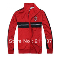 Best qualuty 2013/14 AC Milan red football soccer jacket,ac milao football coat/sweater 2014