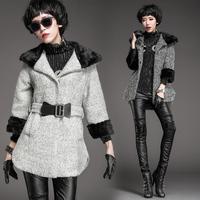 9172 with a hood woolen outerwear