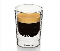 Free Shipping novelty 48Pcs/lot Europe style Double Wall shot Glass Coffee Cup,Mug,teacu ,Thermo Glass Cups 85ml,2.8oz