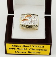 free shipping by DHL replica 1998 Denver Broncos  Super Bowl World Champions Football Championship Ring for gift  size =11