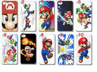 New 10pcs/lots wholesale Mario hard white case cover for iphone 4 4G 4S + free shipping
