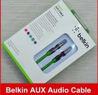 500pcs/lot, Model#AV10127 Belkin AUX Stereo Audio Cable Newest Colorful 3.5mm Jack For Mobile Phone Devices,Model#AV10127