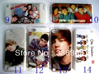 Hot selling 10 pcs/lot  New 1D One Direction Hard Plastic Back Cover Case for ipod toch 5 5th Free shipping