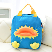 Free shipping Duck three-dimensional duckbill backpack canvas backpack cartoon handbag multi-purpose women's handbag