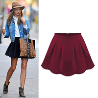 Fashion pleated 2013 slim waist woolen short skirt bust skirt fashion gentlewomen puff skirt