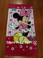 free shipping kids children girls girl beach towels bath towel cotton cartoon minnie 2 designs
