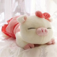 Three cis-pig plush toy pig Large pig pillow doll cloth doll birthday christmas gift
