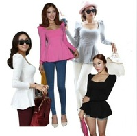 0816 slim waist skirt long-sleeve T-shirt