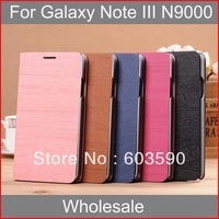 100X For Galaxy Note 3 III N9000 Wallet Leather Case Phone Bag Cover with Credit Card Holder Stand Case Wholesale