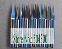 10pcs CNC router bits 3.175 mm 10 Degree 0.15 mm for wood engraving