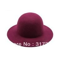 Wholesale 2014 Trendy Ladies Wool Felt Floppy Fedora Caps Lady Winter Trilby Hats Womens Derby Cap Women Fedoras Headwear Bowler