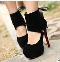 High-heeled ultra thin heels  fashion sexy comfortable single  two ways women's platform shoes
