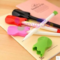 free ship 40pcs creative cute cartoon guitar pen ballpoint pen student school stationery office supplies advertising gifts
