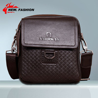 Free Shipping brown Colors Genuine Leather Men Messenger Bags Genuine Leather Bags Men Bag Fashion Bags Waist Packs 1914
