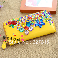 Fashion rhinestone 694 wallet sweet diamond women's long design wallet