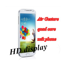 new arrival perfect 1:1 s4 I9500 9500 Quad core IPS 8MP 3G GPS MTK phone Air Gesture Android 4.2 1G RAM 4G ROM unlocked In Stock